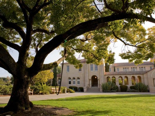 Thiết kế của công trình được lấy cảm hứng từ khuôn viên của trường đại học Stanford, Foster - kiến trúc sư trưởng của dự án cho biết.