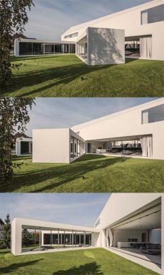 Quadrant Home có kiến trúc nhà hình chữ L.