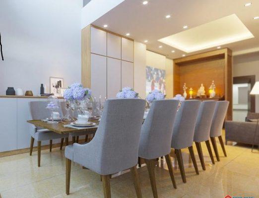 Phòng khách khá đơn giản nhưng tinh tế mang đậm phong cách hiện đại.