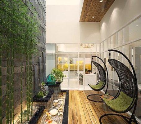 Việc tăng cường màu xanh sẽ giúp ngôi nhà có thêm sinh khí.