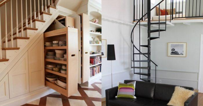 Gầm cầu thang là chiếc tủ khổng lồ cho bạn cất đồ